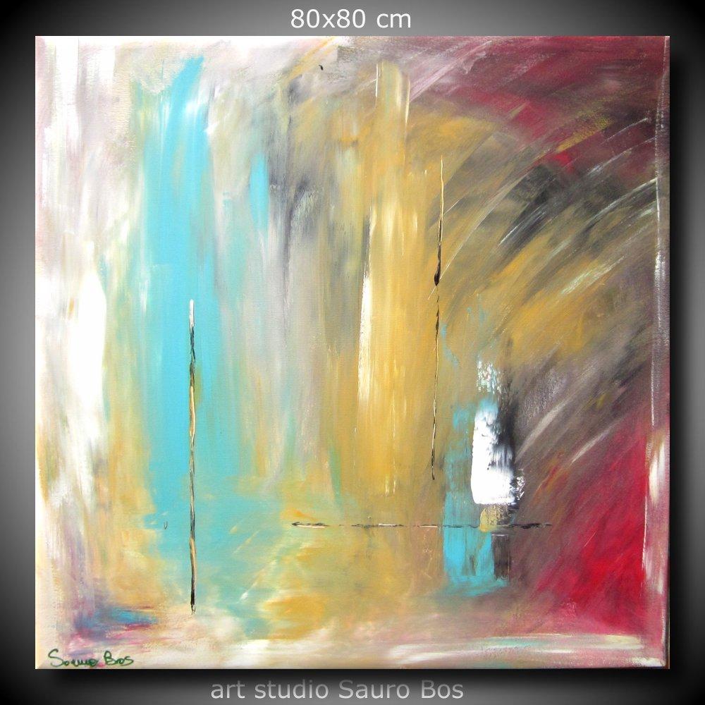 Quadri astratti moderni dipinti a mano sauro bos for Quadri per soggiorni moderni