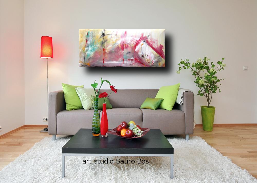 Quadri astratti moderni dipinti a mano sauro bos for Quadri moderni salotto