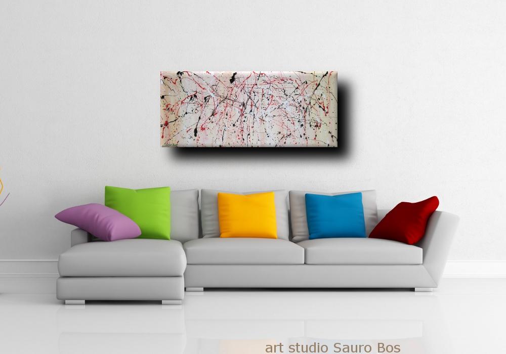 Dipinto astratto moderno sauro bos - Quadro camera letto ...