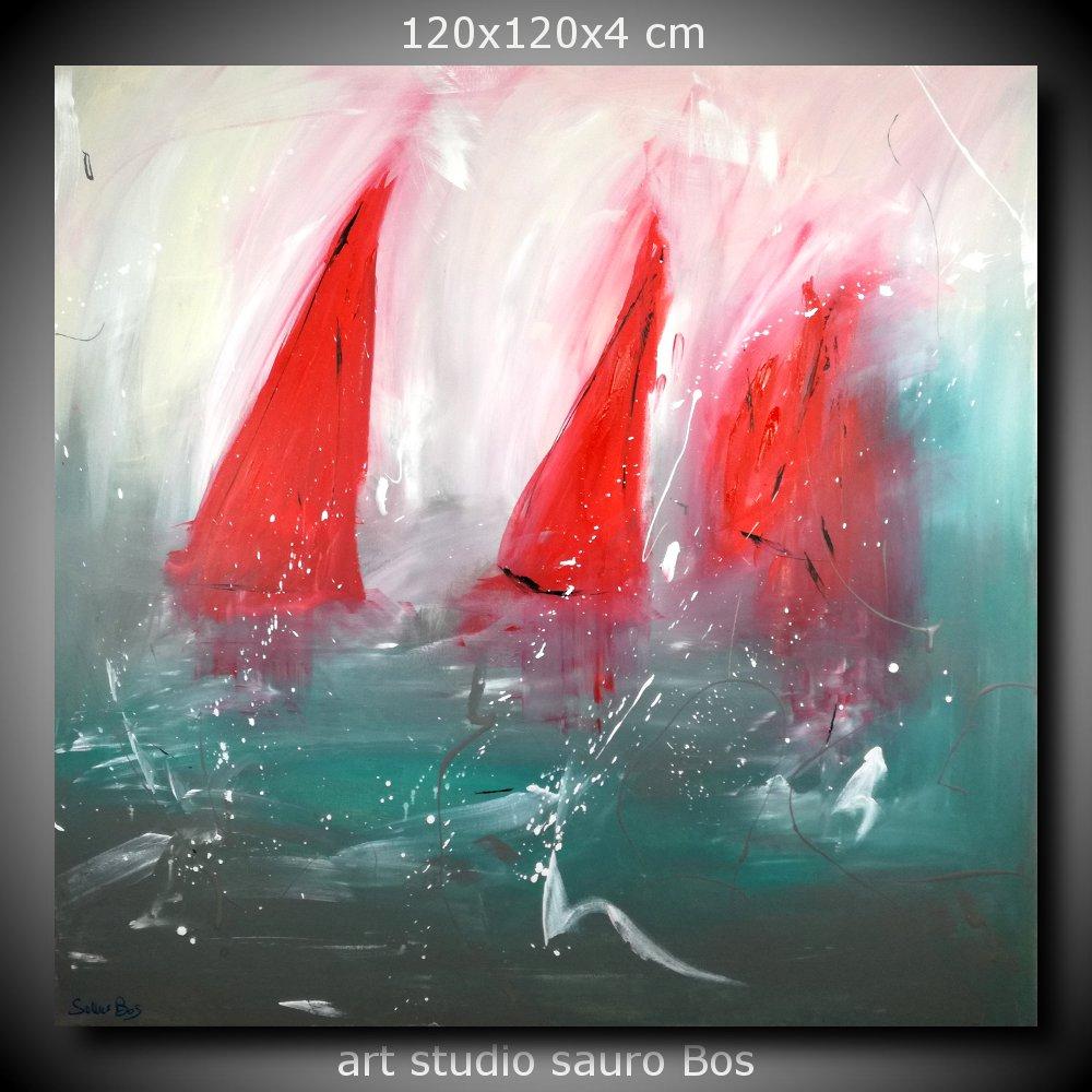 Quadri astratti dipinti olio su tela 120x120 sauro bos for Pittori astratti moderni