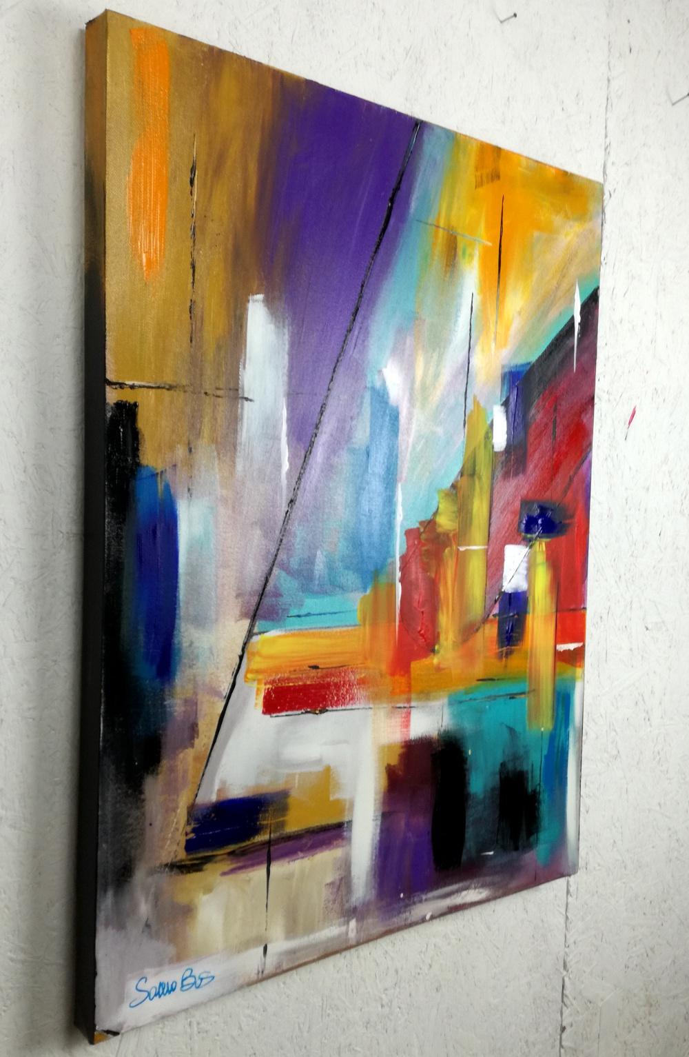 quadri astratti colorati geometrici sauro bos