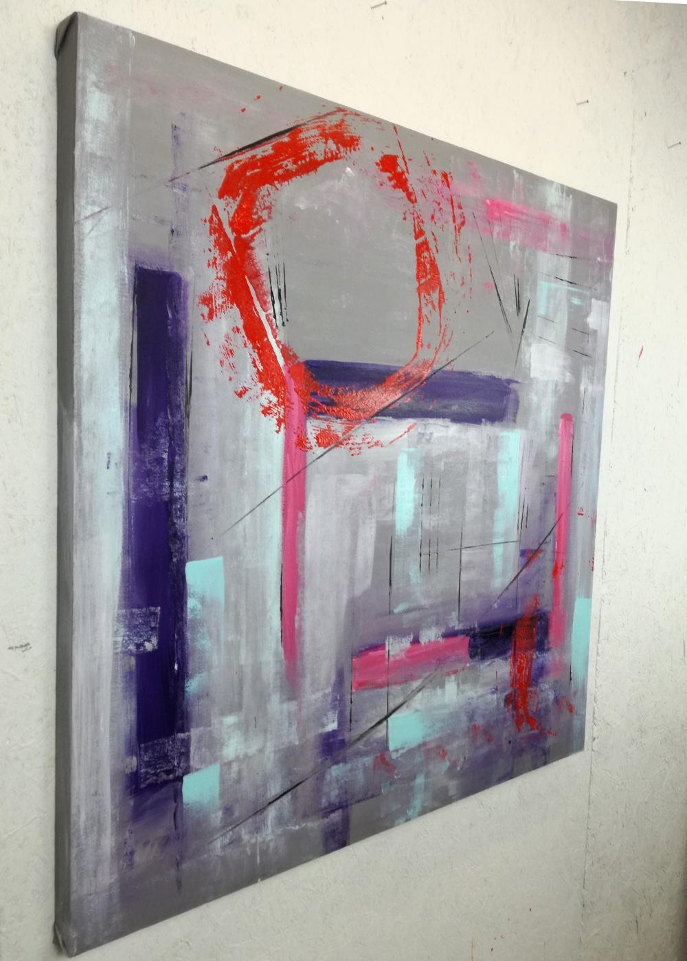 quadri astratti dipinti a mano 100×100 geometrico – sauro bos
