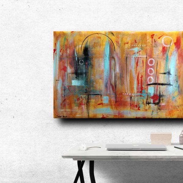 Quadri astratti 120x80 tela contro tela in rilievo sauro bos for Immagini dipinti astratti