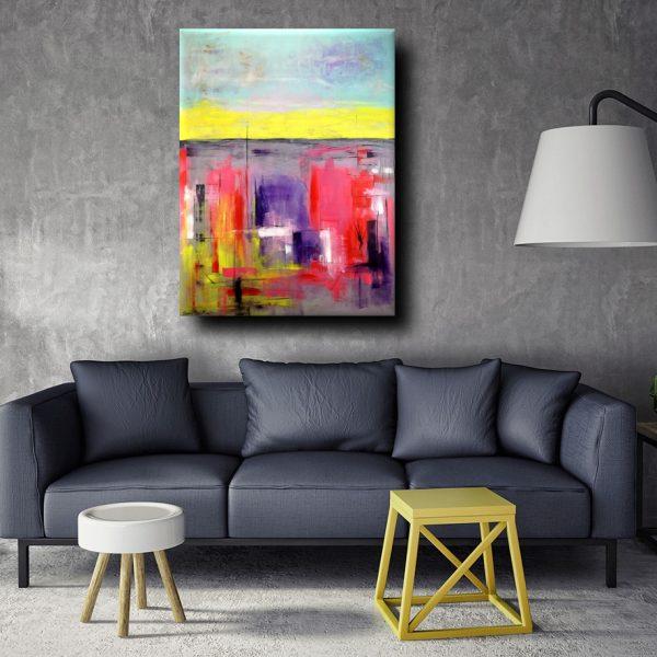 Quadro moderno colorato per soggiorno 170 130 sauro bos - Quadri da cucina moderni ...