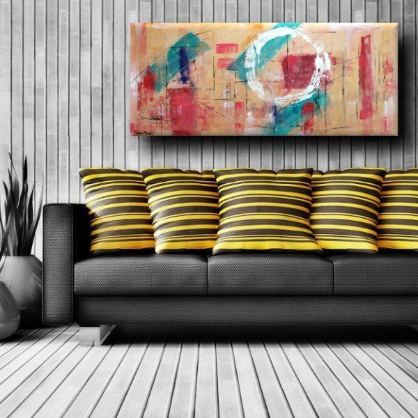 Quadri astratti geometrici per soggiorno 150 65 sauro bos for Quadri su tela astratti