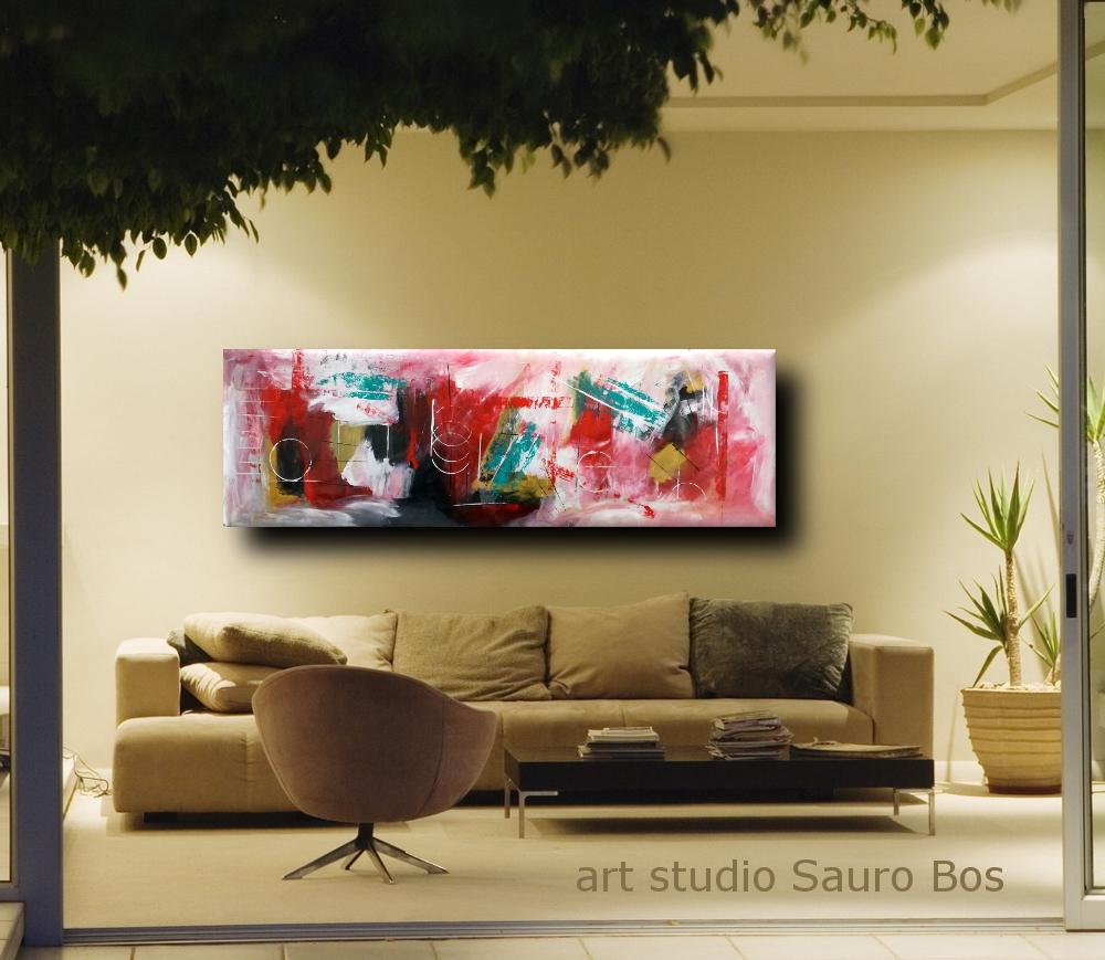 quadri moderni grandi dimensioni 180x50  sauro bos