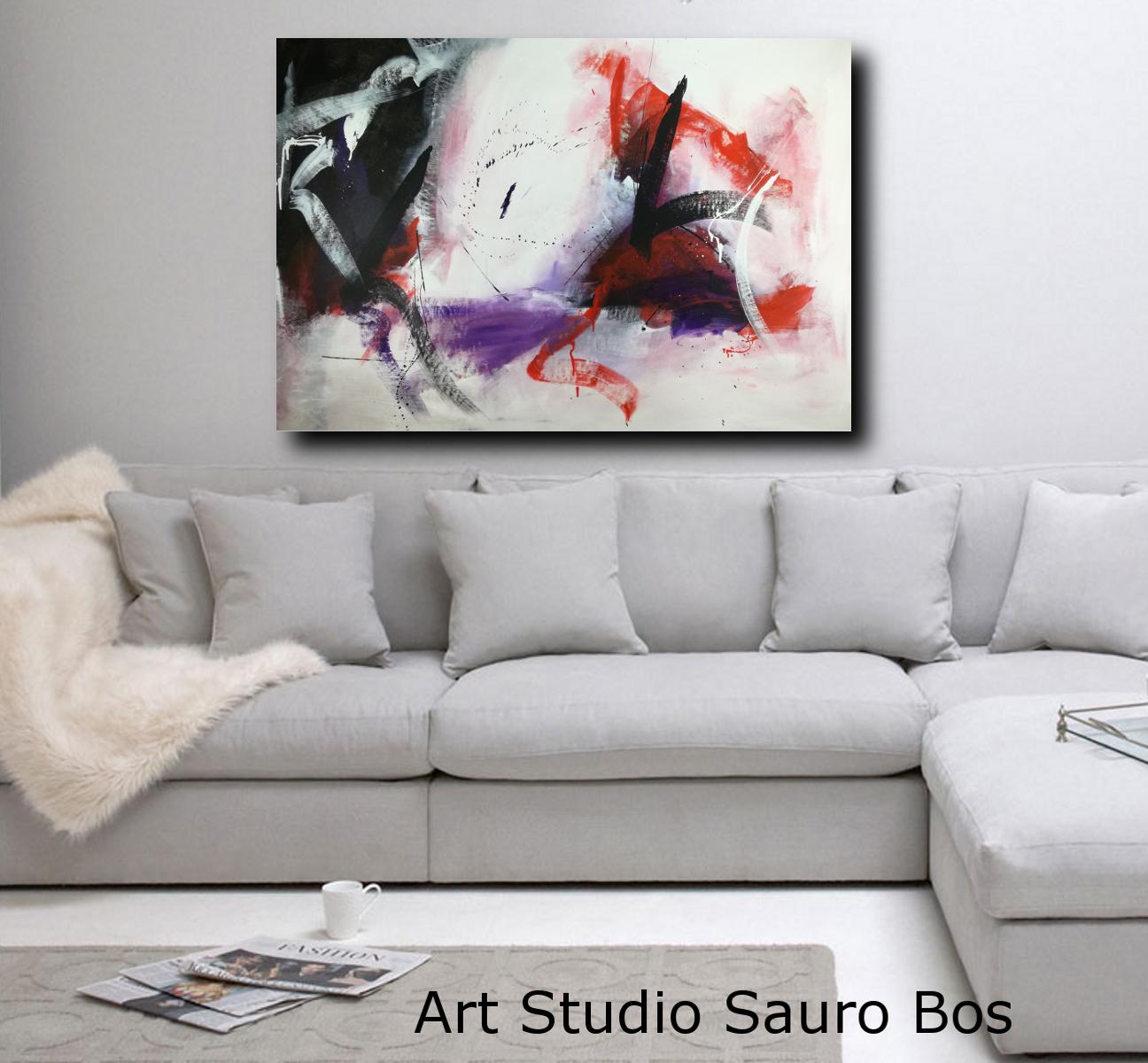 quadri astratti per arredamento moderno 120x80 | sauro bos