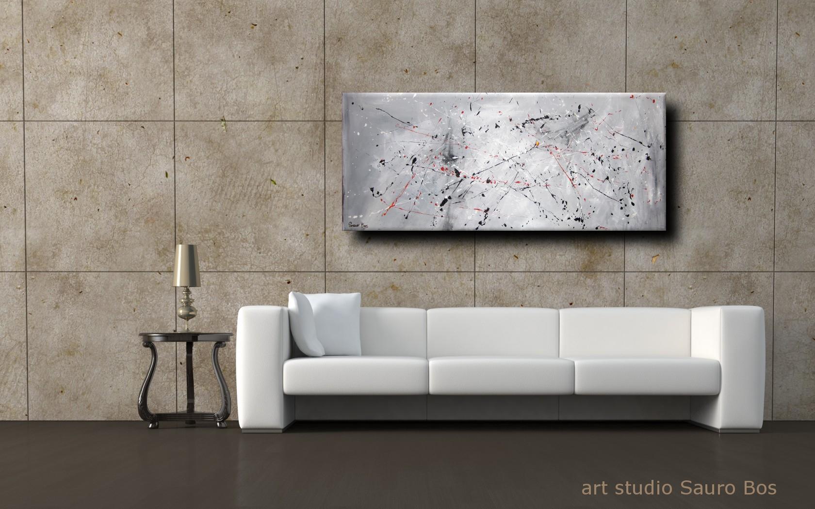 quadro astratto per soggiorno cucina | sauro bos