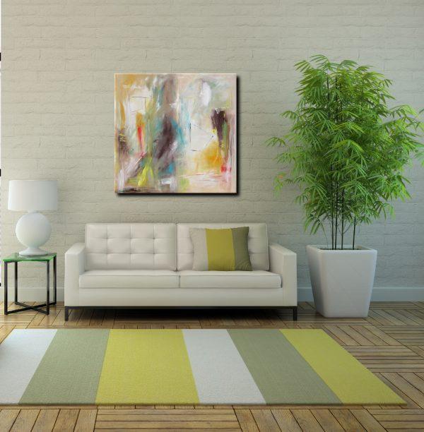 consapevolediverde 1 600x612 - quadro astratto quadrato