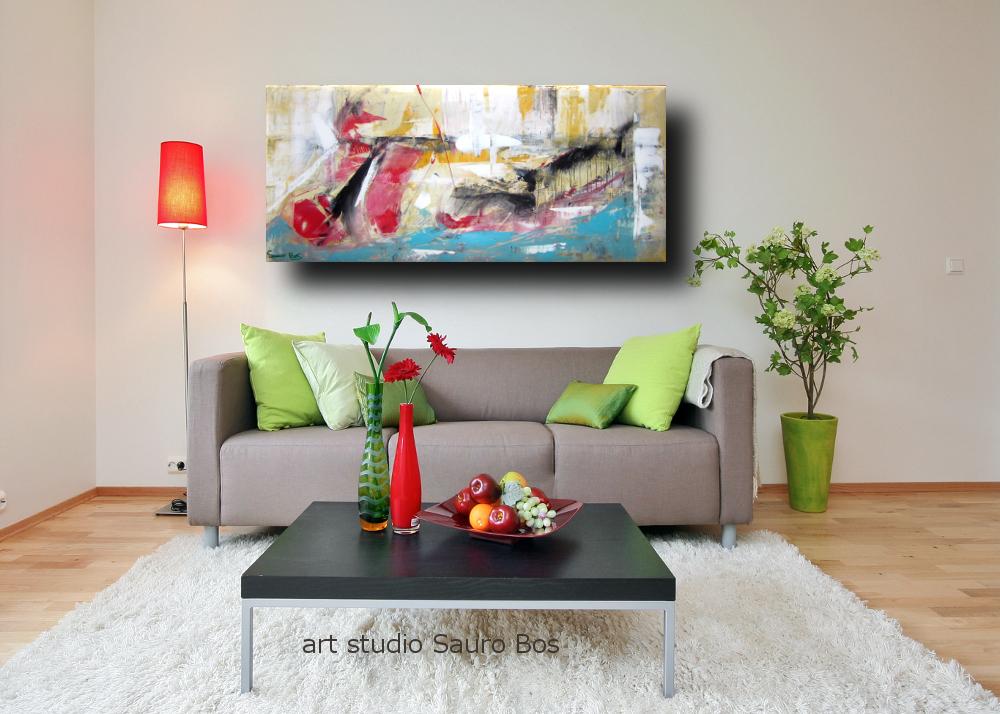 fondale marino div - dipinto astratto per soggiorno