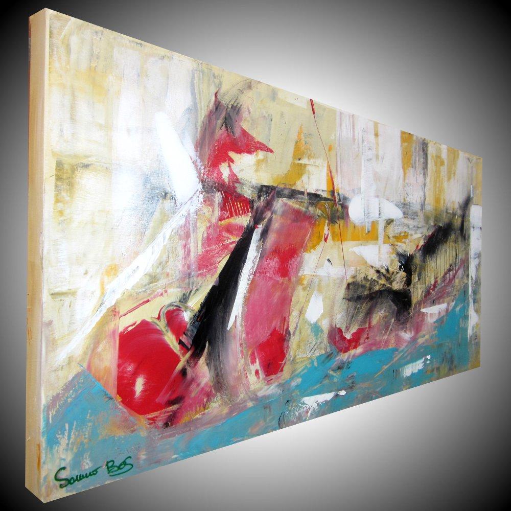 fondale marinodx - dipinto astratto per soggiorno