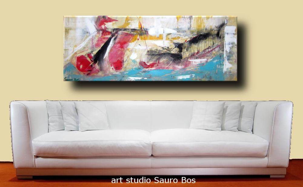 dipinto astratto per soggiorno | sauro bos