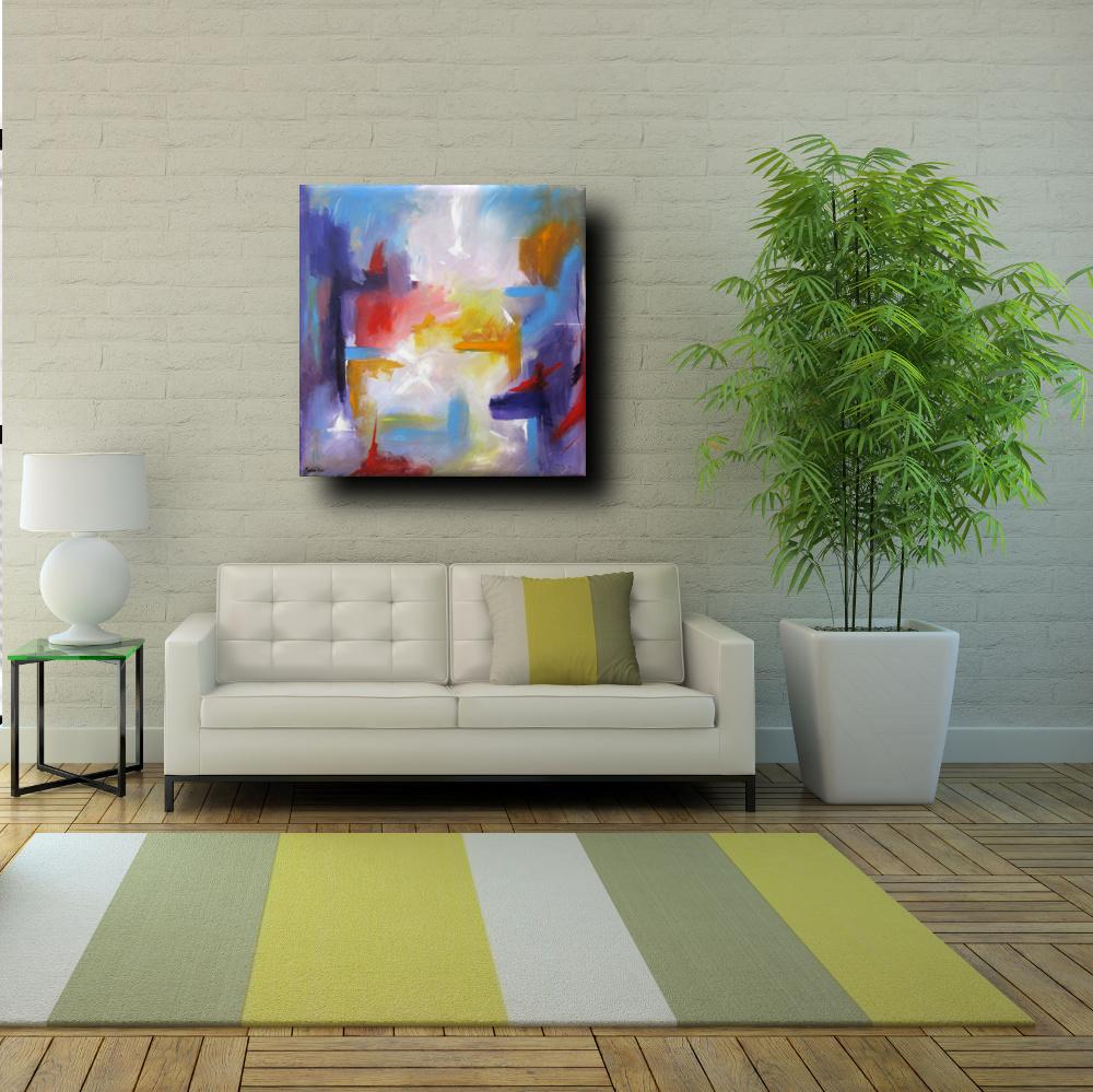 quadro astratto moderno quadrato sauro bos