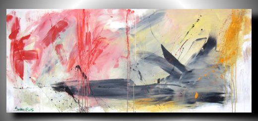 paesaggio informale 2 520x245 - quadri astratti lunghi