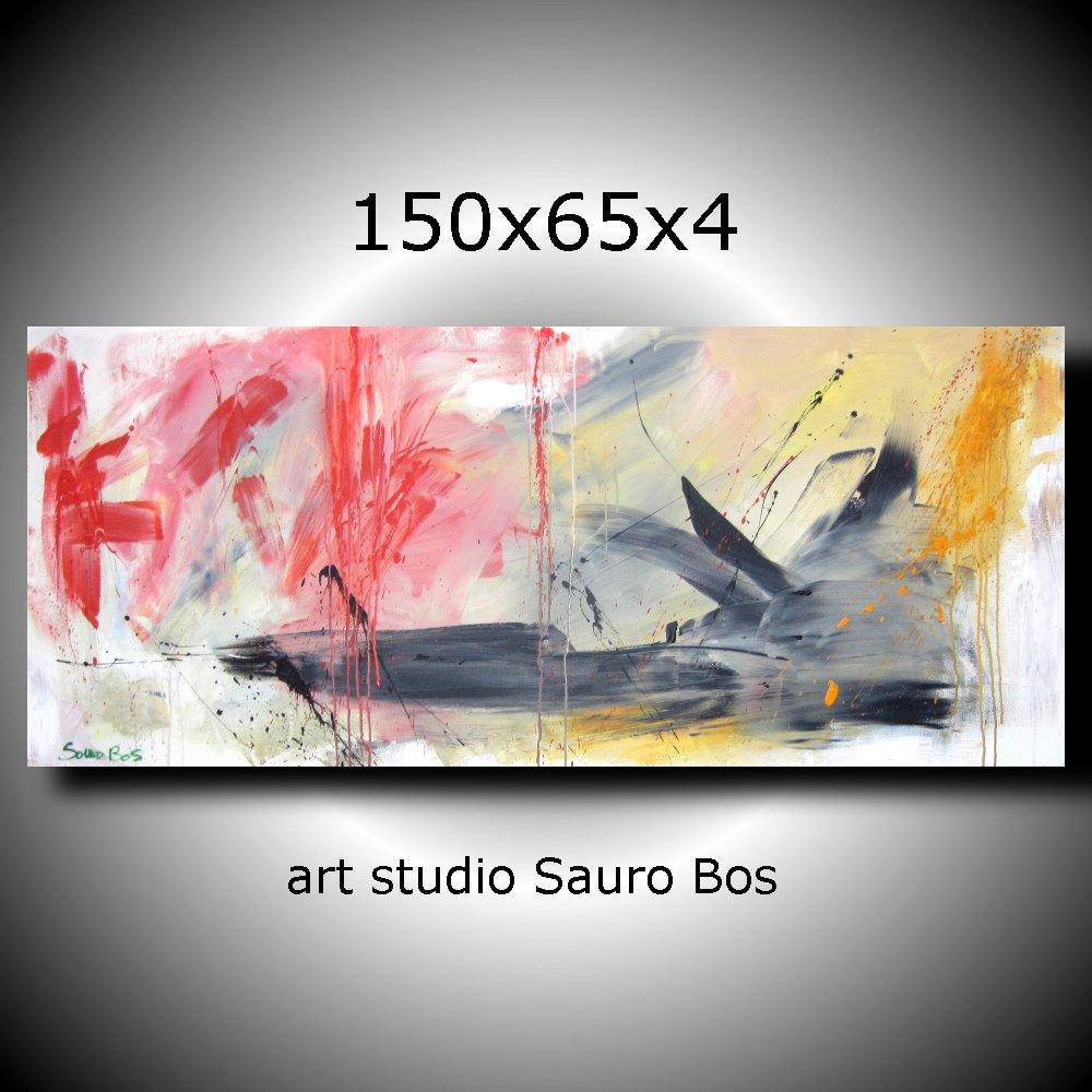 paesaggio informale 2 - quadri astratti lunghi
