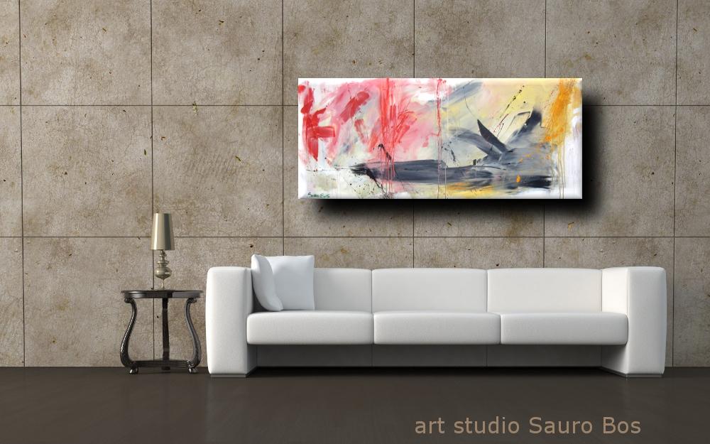 paesaggio informalediv m 2 - quadri astratti lunghi