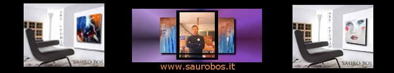saurobos banner - painting on abstract canvas 120x80