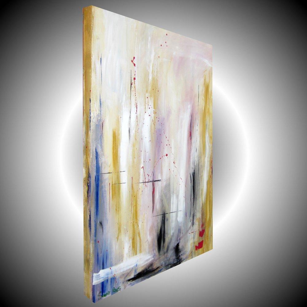 Quadro astratto verticale 1 sauro bos for Quadri dipinti a mano dipinti moderni idee arredamento