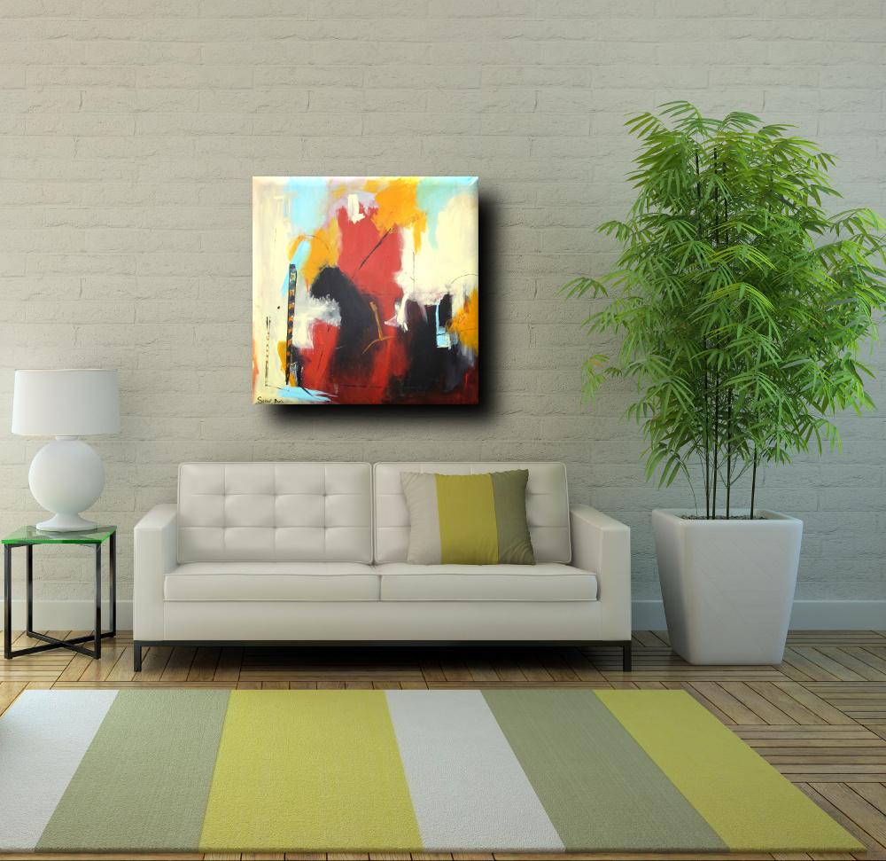capriccio div bianco quadro astratto - quadro astratto moderno quadrato
