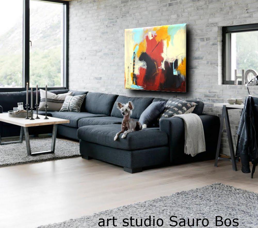 capriccio quadro astratto soggiorno - quadro astratto moderno quadrato
