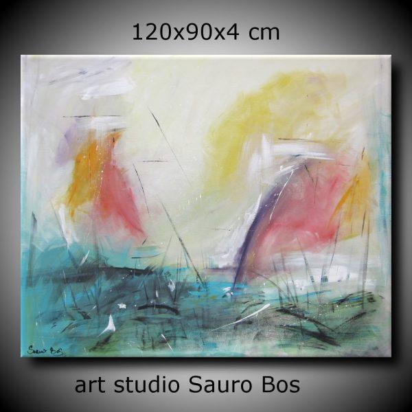 le vele 600x600 - dipinto astratto per soggiorno