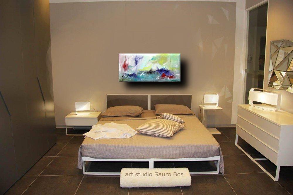 ondeggioletto - quadro astratto per soggiorno