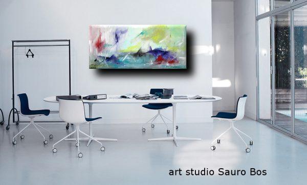 ondeggioufficio 600x363 - quadro astratto per soggiorno