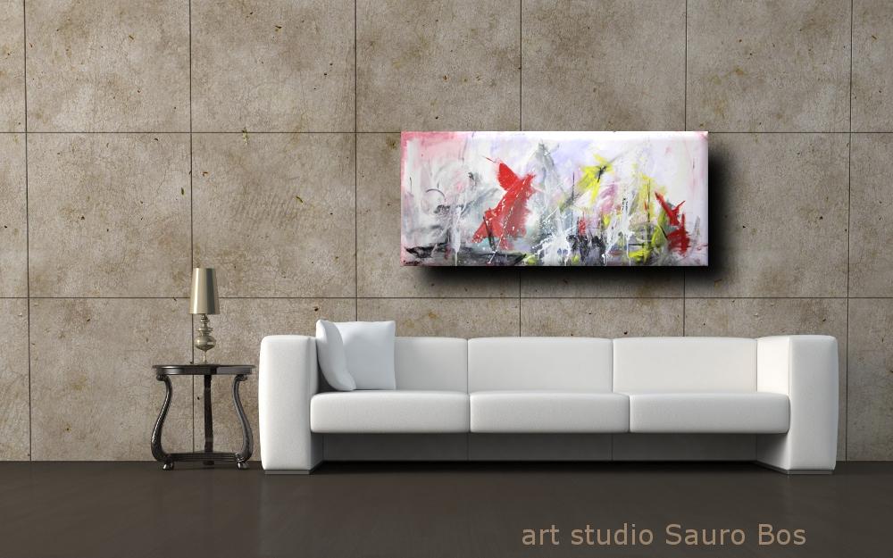 quadro astratto per soggiorno | sauro bos