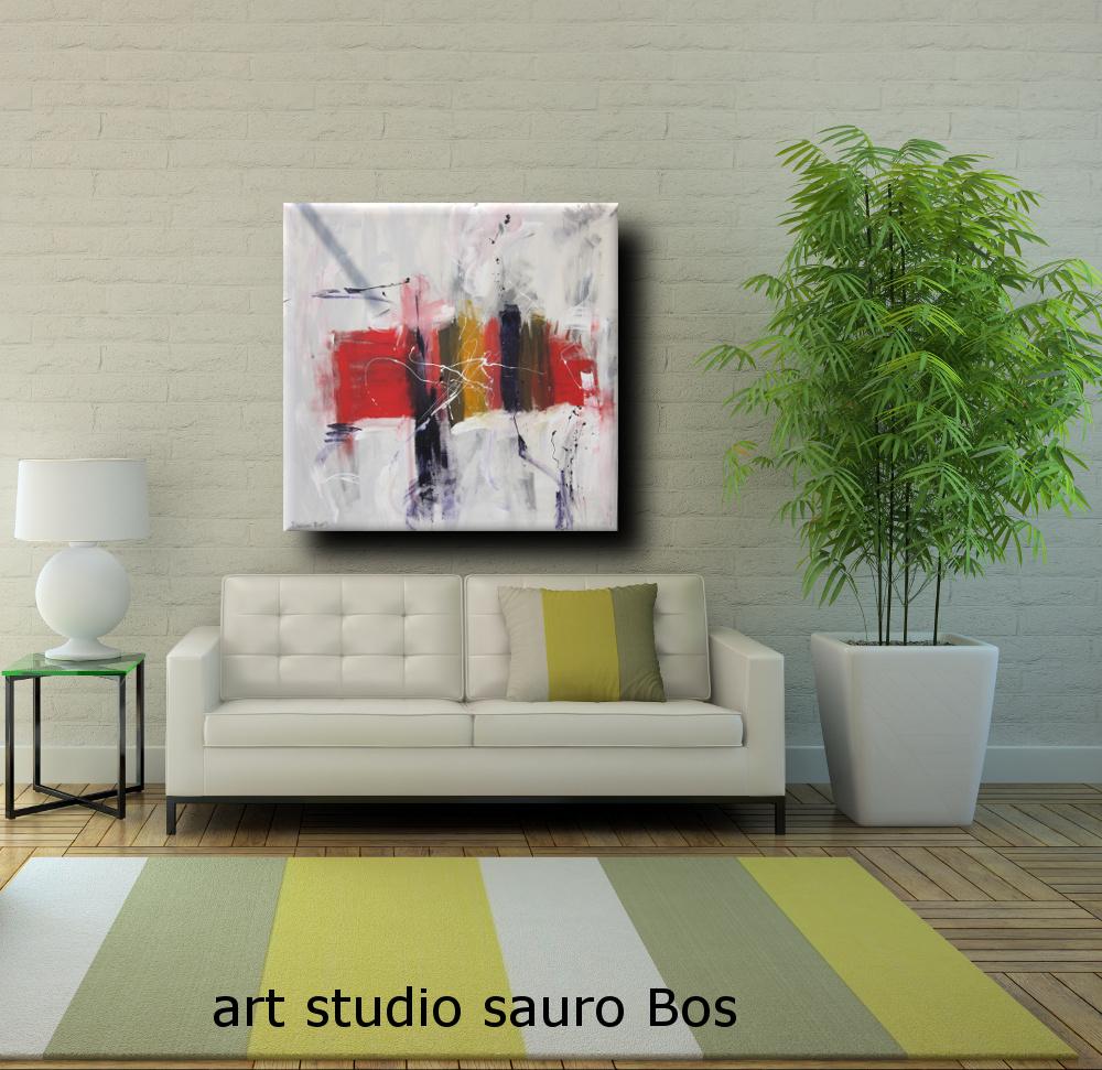 sospesodverde - quadro astratto moderno quadrato