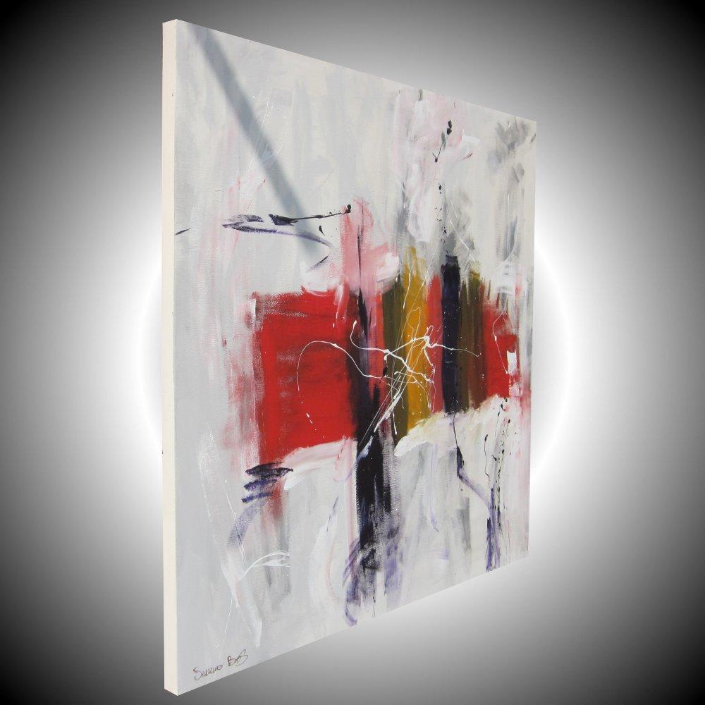 sospesodx - quadro astratto moderno quadrato