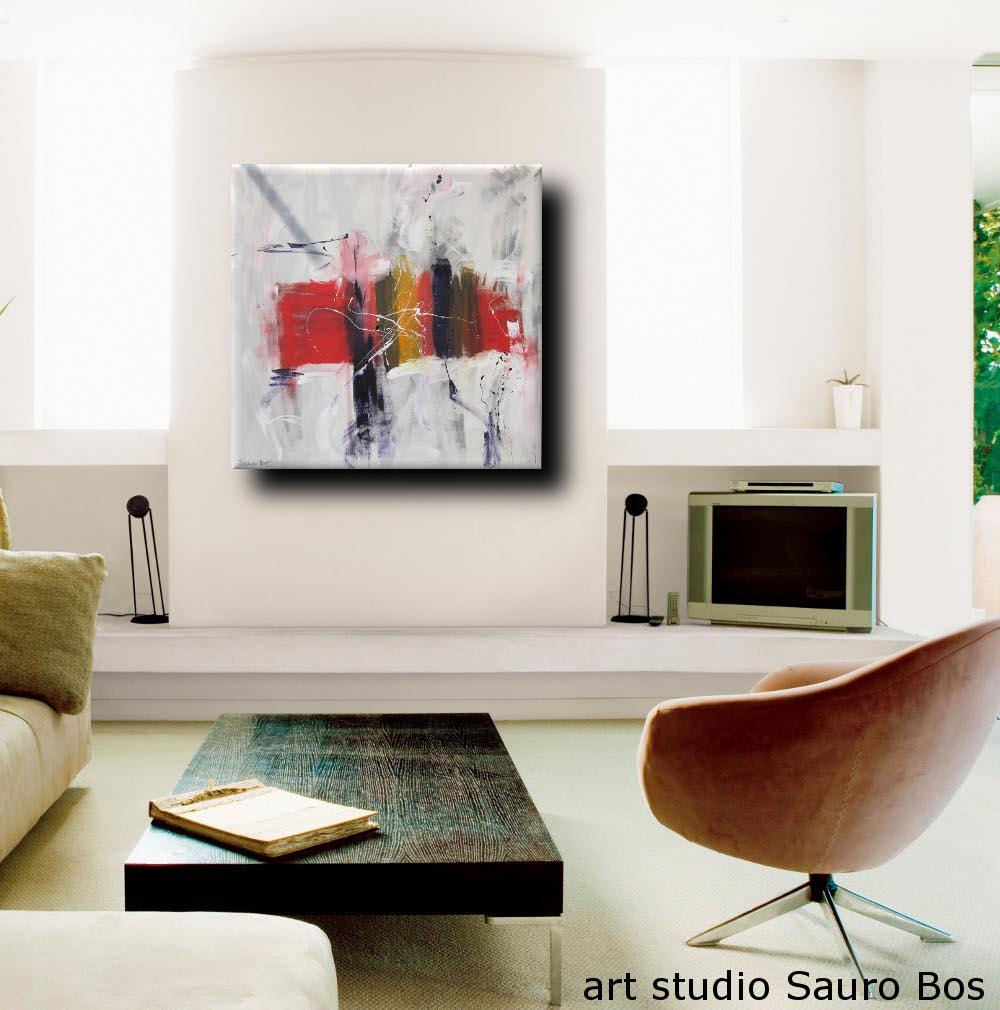 sospesose - quadro astratto moderno quadrato