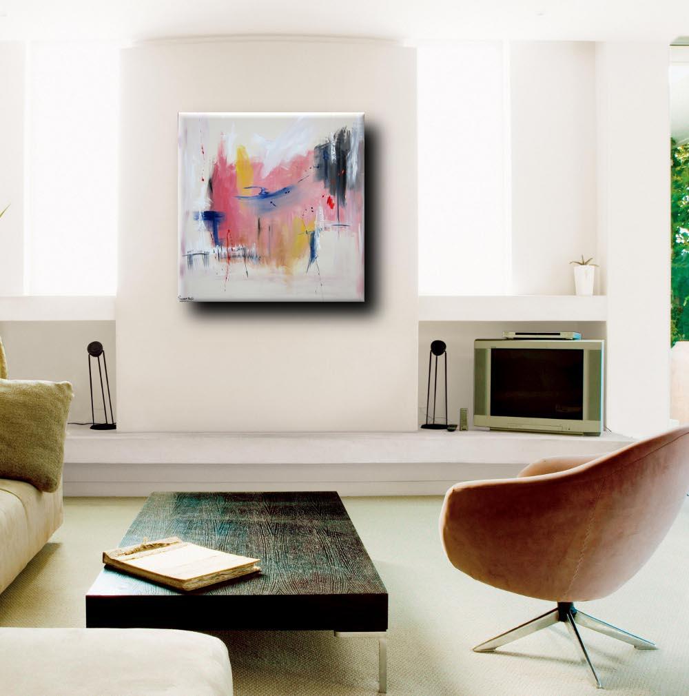 Dipinto astratto per soggiorno 100x100x4 sauro bos - Quadri per soggiorno ...