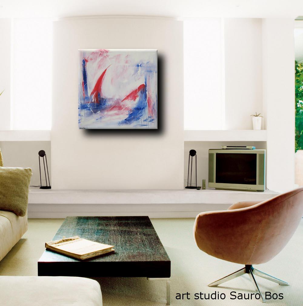 develop quadro astratto living - quadro astratto per soggiorno 120x120x4