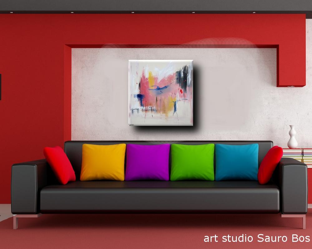 Dipinti Per Soggiorno : Dipinto astratto per soggiorno sauro bos