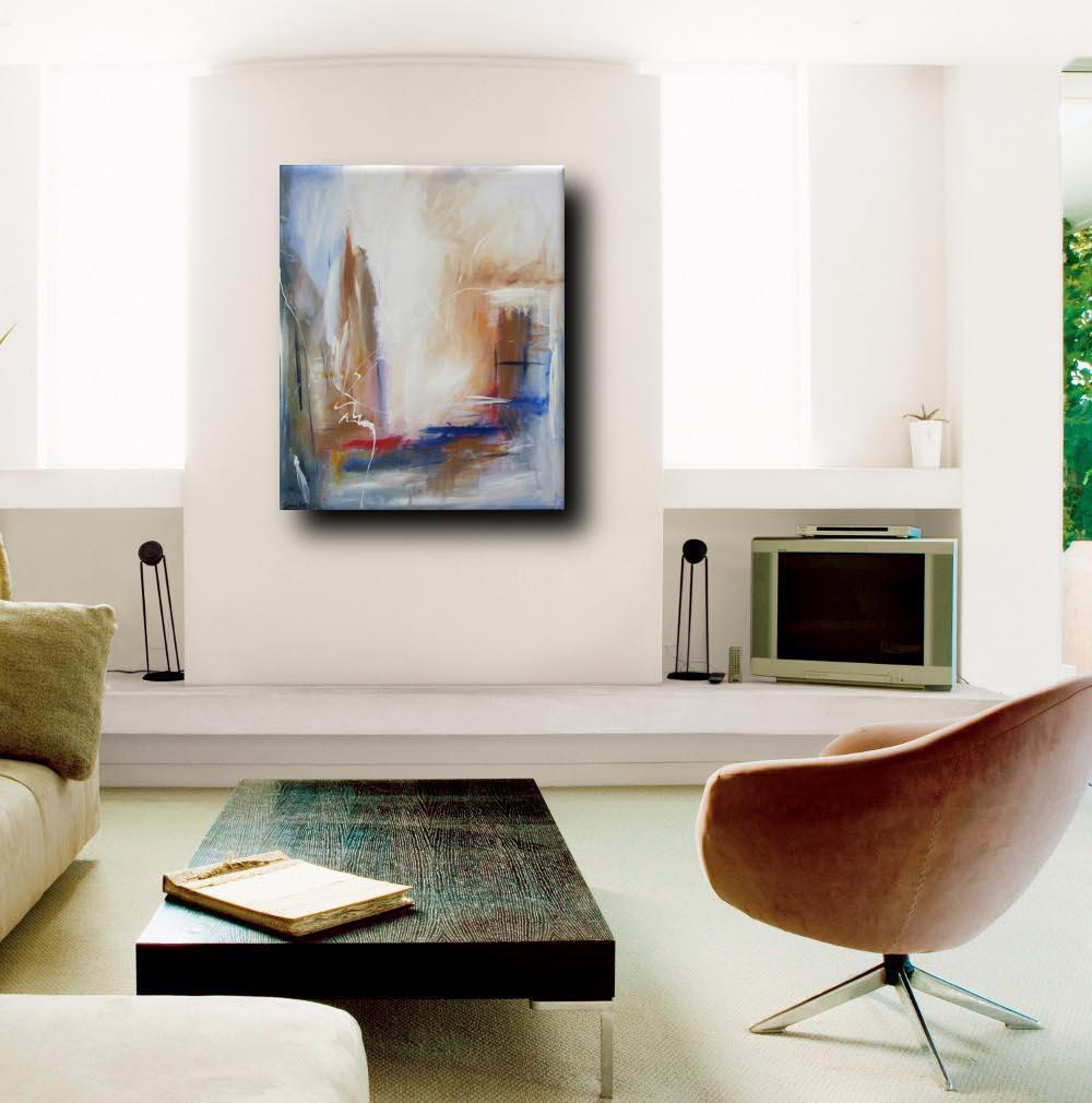 quadro astratto per soggiorno rosso e marrone | sauro bos