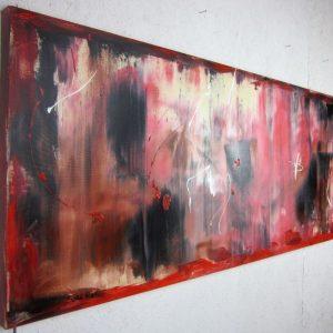 dx quadri astratti rosso astratto 300x300 - quadri astratti informali  per soggiorno rosso e nero