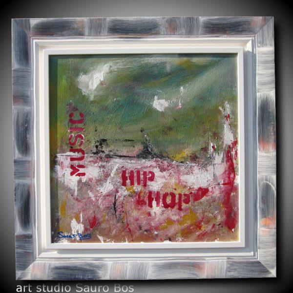 hip hop 600x600 - quadro astratto moderno con cornice olio