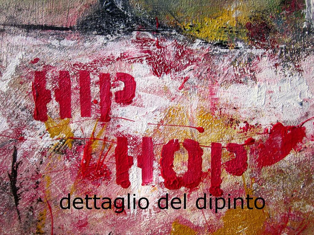 hip hop dettagliopJPG - quadro astratto moderno con cornice olio