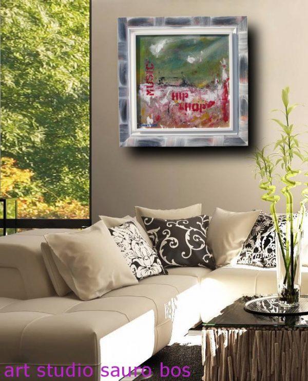 hip hopdiv 600x741 - quadro astratto moderno con cornice olio