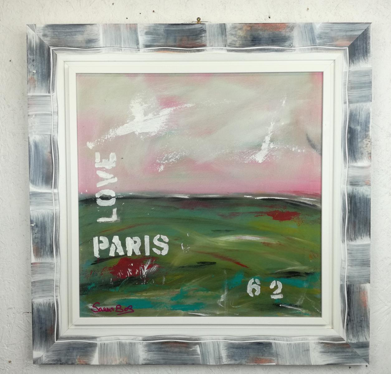 love pars quadro astratto - quadro  moderno con cornice olio su tela