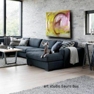 quadri astratti per soggiorno abbracci 300x300 - quadro astratto moderno quadrato olio su tela 120x120