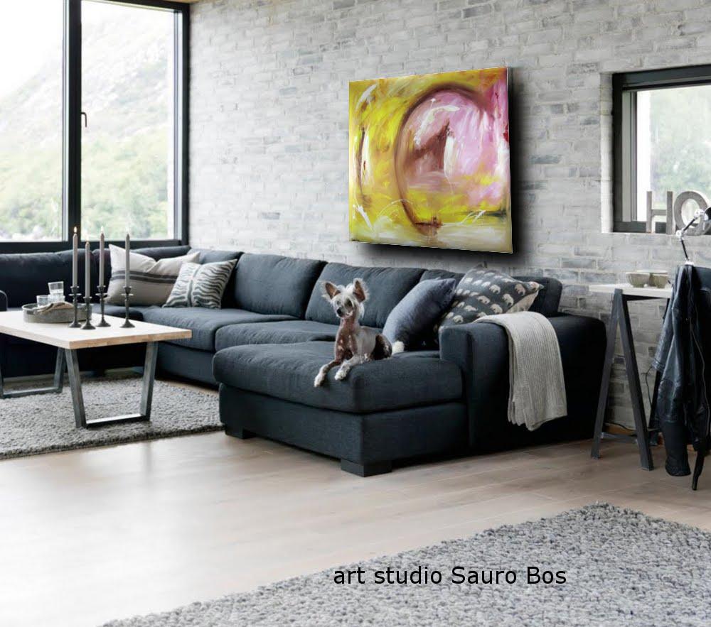 Quadro astratto moderno quadrato olio su tela 120x120 for Quadri moderni astratti su tela