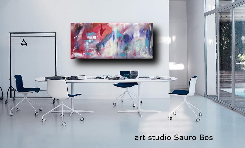 quadri astratti informali per soggiorno moderno | sauro bos