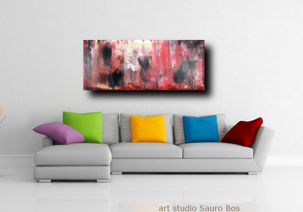 quadri astratti rosso astrattodiv - quadri astratti informali  per soggiorno rosso e nero