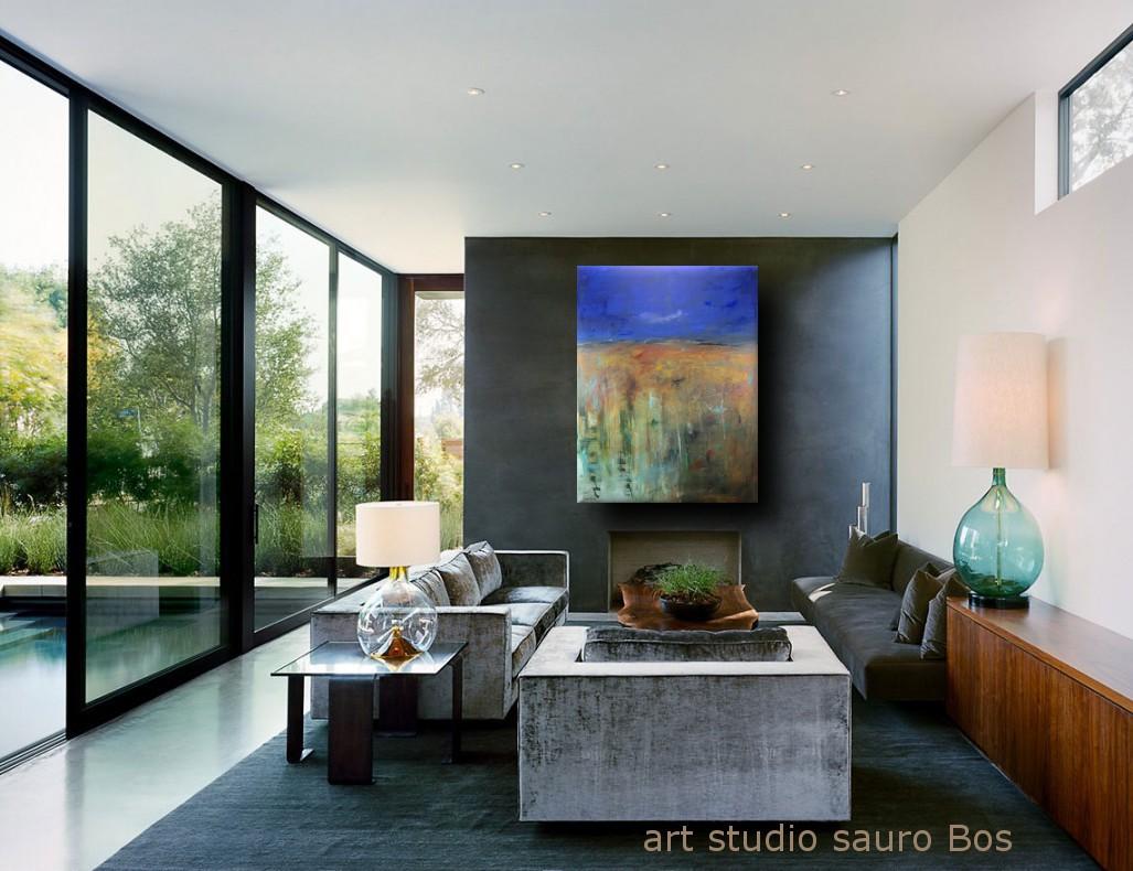 quadro astratto moderno sky - quadro moderno per soggiorno