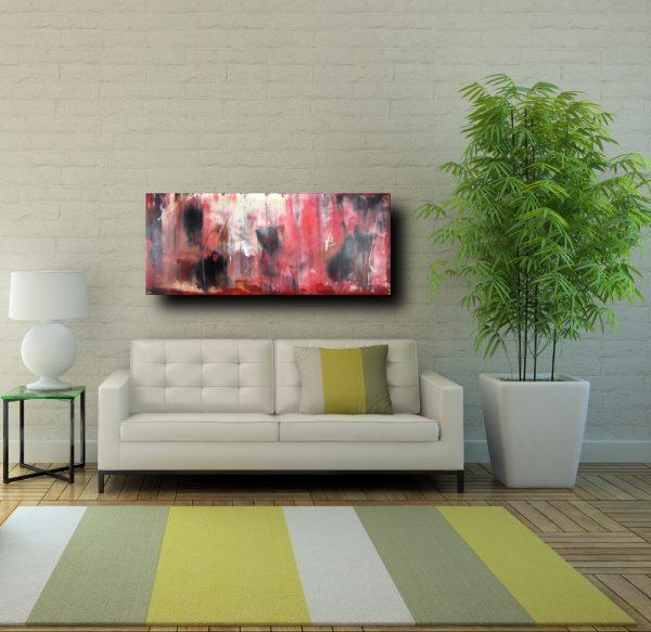 quadro astratto rosso 600x583 - quadri astratti informali  per soggiorno rosso e nero