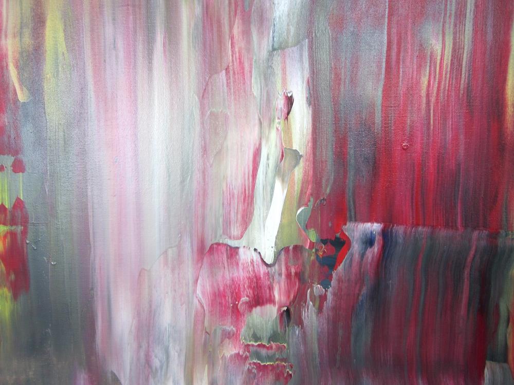 dett quadri astratti a5 - quadri astratti informali  per soggiorno nero rosso