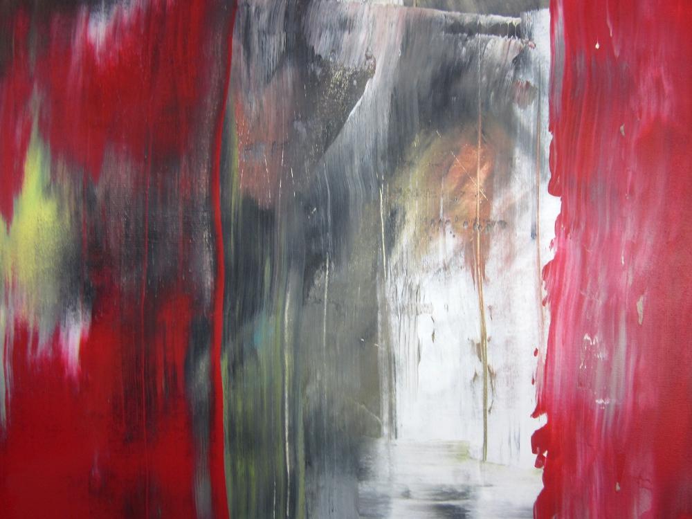 dettaglio quadri astrattia5 - quadri astratti informali  per soggiorno nero rosso