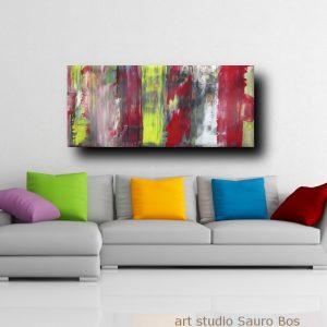 div quadri astratti informali b5 300x300 - quadri astratti informali  per soggiorno nero rosso