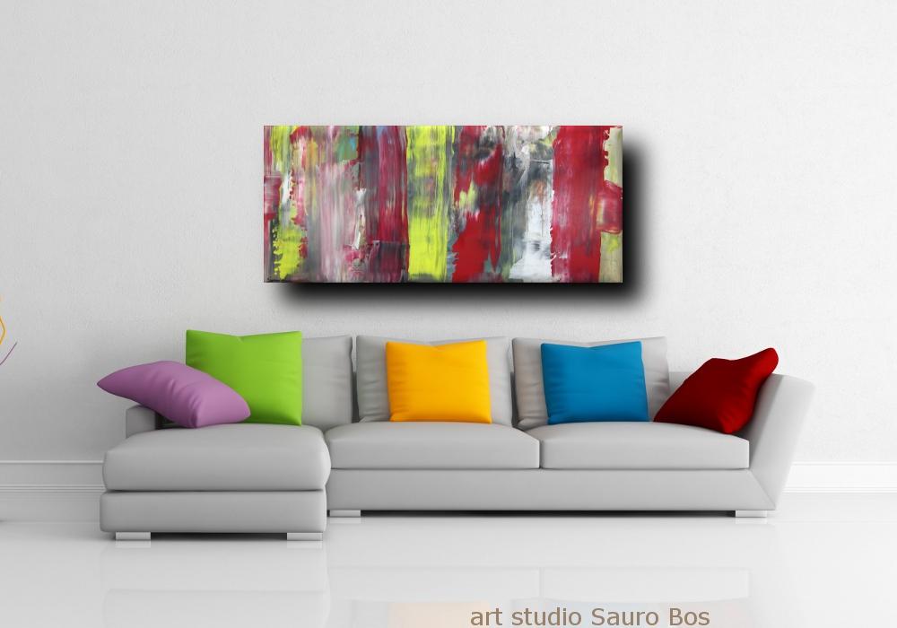 div quadri astratti informali b5 - quadri astratti informali  per soggiorno nero rosso